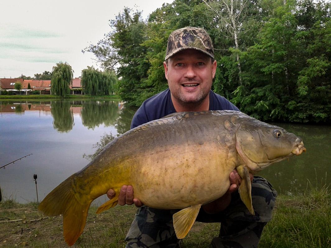 Kapr 83 cm, 13,3 kg, Pavel 18.6.2015