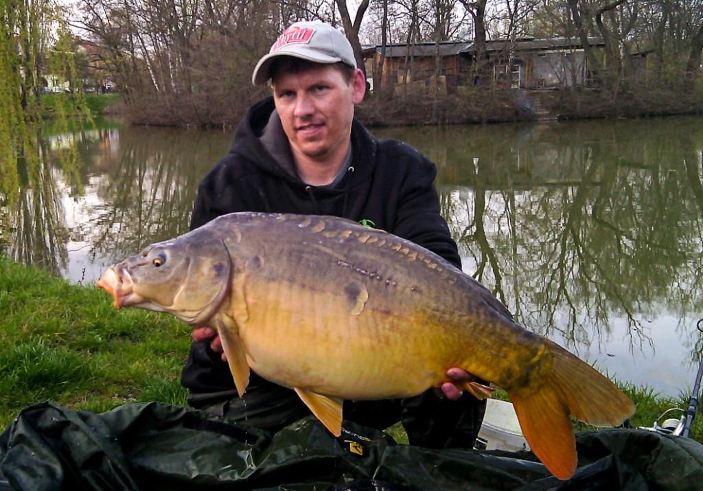 Kapr 85 cm, chycen Mirkem, vrácen zpět do rybníka